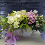 anthuriums and orchids